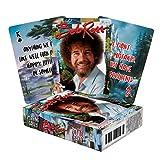 Aquarius Bob Ross Quotes Multi Image Playing Cards Deck,Multicolor,3'