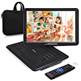 NAVISKAUTO 16' Portable DVD Player with Large Screen Carrying Bag Support HDMI Input 1080P MP4 Video Sync Screen Last Memory Region Free