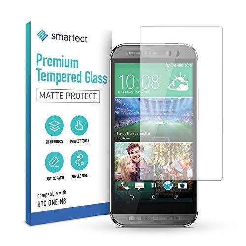 smartect Mattes Schutzglas kompatibel mit HTC One M8 / M8s [MATT] - Tempered Glass mit 9H Festigkeit - Blasenfreie Schutzfolie - Anti-Kratzer Bildschirmschutzfolie