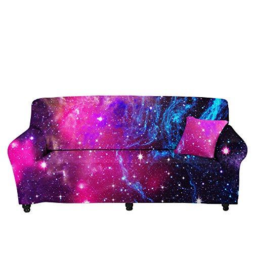 HXTSWGS Jacquard Stretch Sofaüberzug,3D Stretch Sofa Cover, Cream Print Sofa Cushion Cover-Color2_145-185cm