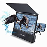 Jteman 5-in-1 Bluetooth Spearker 3D HD Mobile Phone Screen Magnifier Amplifier Movie Video Cell Phone Enlarger Screen Phone Projector for All Samrtphones Android and Phone(Black)