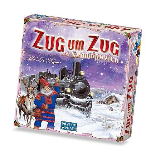 Days of Wonder 200508 Asmodee Zug um Zug: Skandinavien, Grundspiel, Familienspiel, Deutsch