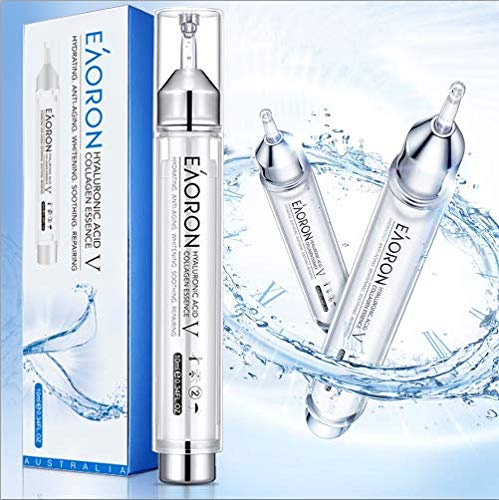 EAORON Hyaluronic Acid Collagen Essence V 10ml, Deep Hydrating, Anti-Aging, Skin Repairing, Portable Face Mask, Moisturizing, Made in Australia, Un...