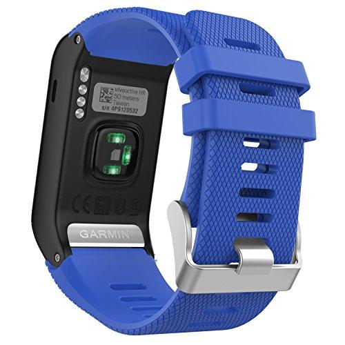 Correa de reloj MoKo para Garmin Vivoactive HR, Correa de reloj de reemplazo de silicona suave, Sólo para reloj inteligente deportivo Garmin Vivoactive HR con GPS y herramientas...