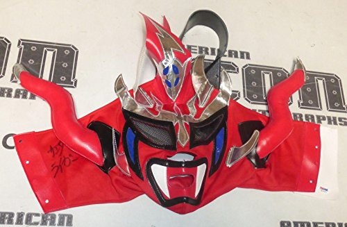 Jushin Thunder Liger Signed Mask COA WWE WCW New Japan Wrestling Auto'd - PSA/DNA Certified - Autographed Wrestling Miscellaneous Items