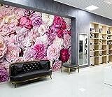 Lovemq Mural De Pared De Papel Tapiz De Negocios De Flores Brillantes 3D Autoadhesivo-130X80Cm