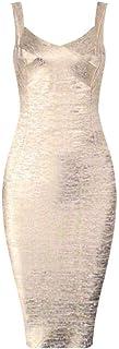High Quality New Non-Slip Golden Printed Rayon Bandage Dress