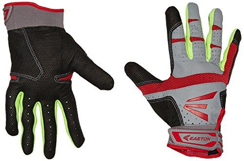 Easton HS9Neon guantes de bateo - A121838PRM, Gris/Rojo
