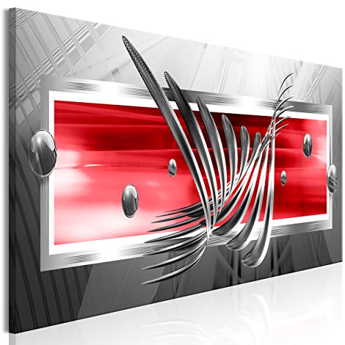 decomonkey Bilder Abstrakt 150x50 cm 1 Teilig Leinwandbilder Bild auf Leinwand Vlies Wandbild Kunstdruck Wanddeko Wand Wohnzimmer Wanddekoration Deko 3D Kugeln schwarz rot