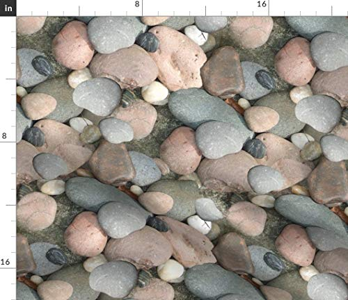 Spoonflower Fabric - Love Rocks Earth Science Geology Nature Photographic Printed on Petal Signature Cotton Fabric by The Metre Sewing Quilting Apparel Crafts Decor