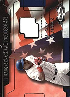 2002 Fleer Box Score Press Clippings Game Used #14 Manny Ramirez Jersey Card