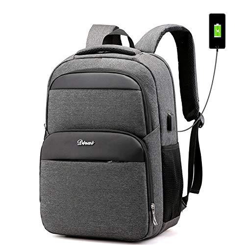 GDMXYD Sac à Dos antivol pour Ordinateur Portable Sac à Dos résistant à l'eau avec Port de Charge USB pour Ordinateur pour Femmes et Hommes