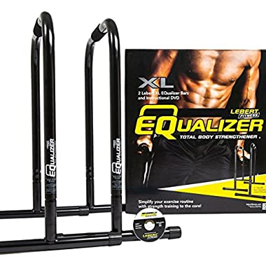 Lebert Fitness EQualizer Bars Total Body Strengthener, XL, Black