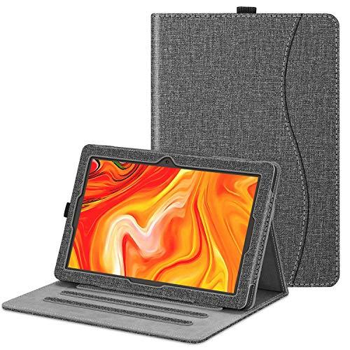 Fintie Funda para Vankyo Z4 Tablet 10.1 Pulgadas -  [Protección de Esquina] Carcasa de Ángulos Múltiples con Bolsillo Función de Soporte,  Gris