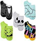 Disney Nightmare Before Christmas Outfits & Faces 5-pack Women's No Show Socks, Assorted, 9 to 11