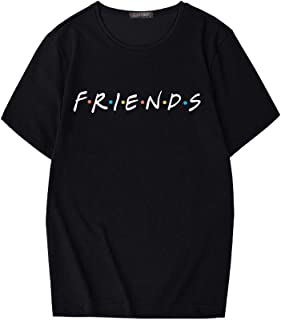 ZSIIBO Women's Friends Graphic Prints T Shirt Funny Tees Summer Cute Tops YunJey