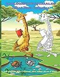 Zoológico de animales - Libro Para Colorear - 100 páginas para colorear para niños de 4 a 8 años