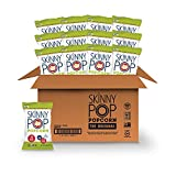 SkinnyPop Original Popped Popcorn, Individual Bags, Gluten Free Popcorn, Non-GMO and Vegan Snack, No Artificial Ingredients, 1.0oz, (Pack of 12)