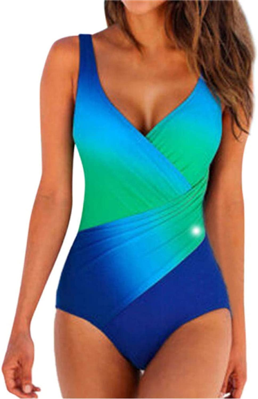 Gaowei Frauen Kleidung Sexy Plus Größe Bademode Frauen Farbverlauf Sling Backless Einteilige Anzüge Push-Up Sommer Strand Badeanzug