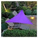 JHWSX Vela de la Sombra del Sol, Bloque Ultravioleta Al Aire Libre Impermeable del Toldo del Triángulo del Toldo de la Protección Solar del Jardín (Color : Purple, Tamaño : 5mx5mx5m)