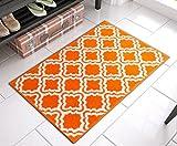 Well Woven Bright StarBright Orange Calipso Modern Geometric Trellis 20' x 31' Mat Accent Area Rug
