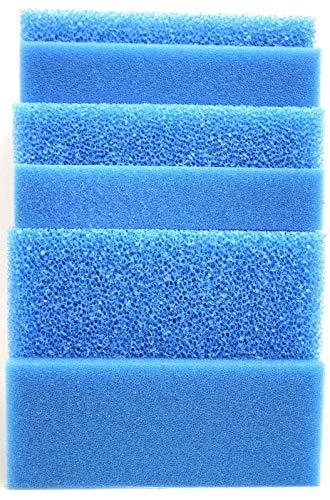 Wohnkult Filtermatte Filterschwamm blau alle Größen von 50 x 50 x 2 cm - 100 x 50 x 10 cm Grob und Fein (50 x 50 x 3 cm FEIN 30 PPI)