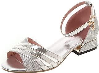 Melady Women Fashion Summer Shoes Block Heels Sandals Ankle Strap