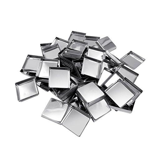 Allwon 56 Pack leere quadratische Metallpfannen für Lidschatten-Palette Magnetische Make-up-Palette...