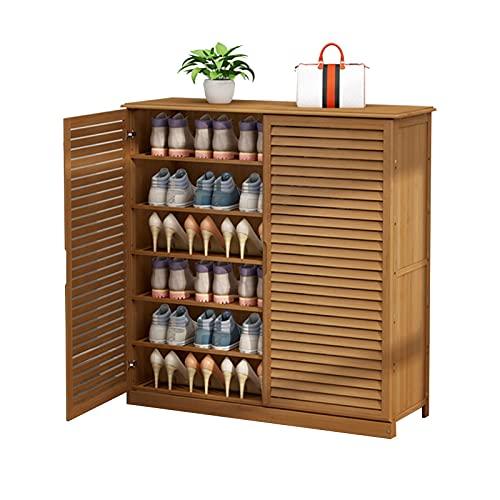 ZAIHW Zapatero de bambú con cajón Estantes para Zapatos Almacenamiento de Madera para Zapatero para Pasillo, Entrada, Sala de Estar, fácil de Montar, 80 y 34 Veces; 100 cm (tamaño: 6 Niveles)