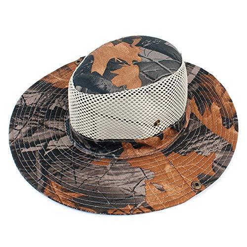 Luminiu Sonnenhut, Sonnenhut Herren UV Schutz Wanderhut Gartenhut mit Kinnriemen Outdoor Angelhut Wandereimer Hut