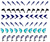Colección de agua arte de calcomanías de uñas (delfín dolphin arte de uñas)