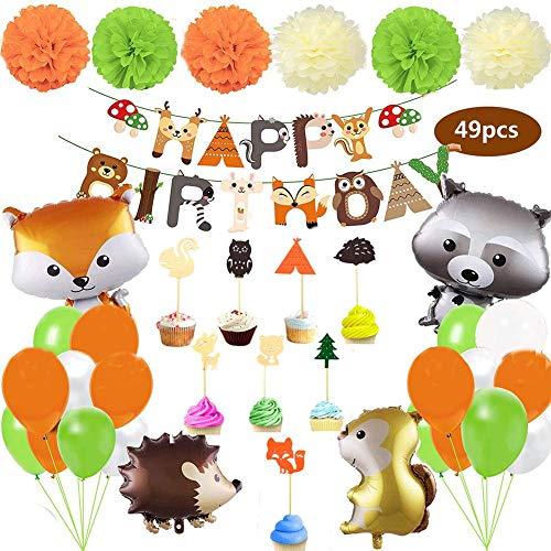 Hängende Dekorationen Ballon Set Wald Tier Thema Party Liefert Für Baby-Dusche Kinder Geburtstag