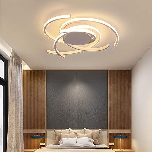 Lampara LED de techo para salon, dormitorio, habitacion, decoracion moderna, regulable, con mando a distancia, lampara de techo, lampara de comedor, lampara de mesa de acrilico, diseno rustico