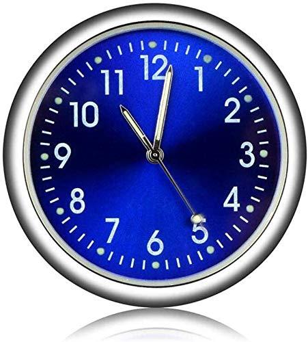 EEEKit Aufklebbare Auto Armaturenbrett Uhr Runde analoge Quarzuhr, Mini leuchtende Quarzuhren perfekte Dekoration für Motorrad, Auto, SUV und MPV