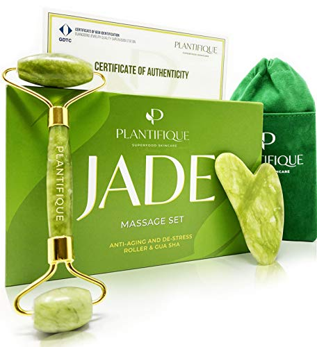 Rullo di giada certificato per il viso - Roller viso Qualità naturale al...