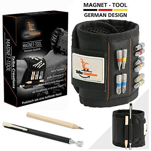 Bestes Männer Geschenke Magnetisches Armband Werkzeug mit 15 starken Magneten, für Halten Schrauben Werkzeuge Bohrern, papa geschenk, Magnetarmband für Männer Handwerker, Heimwerker Tischler, Vater