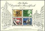 Prophila Collection Berlín (Oeste) Bloque 4 (Completa.edición) matasellado de Primer día 1973 50 años radiodifusión (Sellos para los coleccionistas)