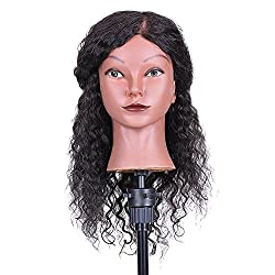 commercial Beauty Mannequin Head Self Styling Training Head Hair Styling Practice Hair … hairdressing mannequin heads