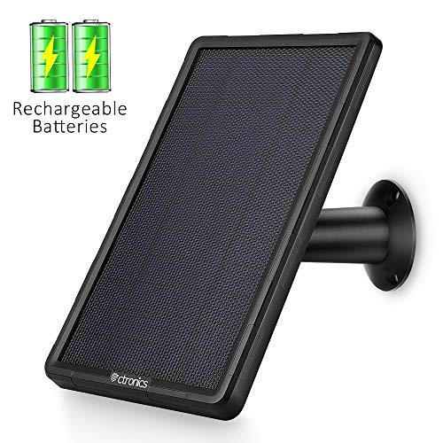 classement un comparer Bloc d'alimentation pour caméras de surveillance à panneaux solaires Ctronics avec batterie 2400mAh…