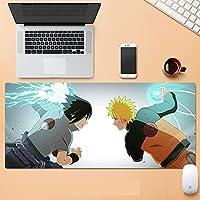 ゲーミングマウスパッド、大きなマウスパッド ラップトップコンピューター、デスクカバーコンピューターのためのNa-Rutoの大型カスタムマウスパッドパッドパッドのパッドは、キーボードステッチエッジオフィス理想マウスマット-B_800*300*3MM