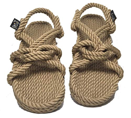 Nomadics Mountain Momma Unisex-Erwachsene Sandale aus Seil Camel, Camel, 39 EU