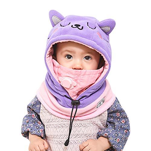 DORRISO Lindo Niños Bebe Gorra Cómodo Calentar Pequeña Animal Dibujos Animados Gorras Sombrero de Niño Apto para 1-8 años Niños bebé