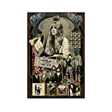 Fleetwood Mac Young Stevie Nicks Poster Canvas Poster Bedroom Decor Sports Landscape Office Room Decor Gift 12×18inch(30×45cm)