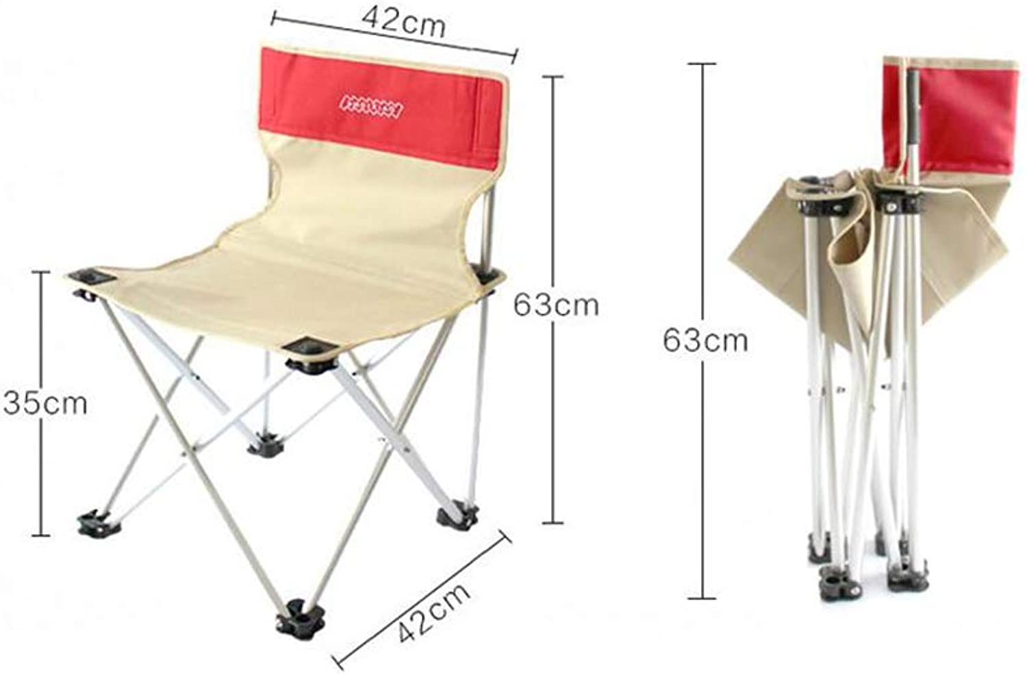 Folding Chairs Fishing Chair Stool Camping Multipurpose Aluminum Alloy Oxford Cloth Backrest Waterproof Lightweight Portable Outdoor Beach Chair,B