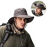 Peicees Fishing Hat Summer Sun Bonnie Hat UPF 50+ UV Protection Wide Brim Cap Waterproof Safari Adventure...