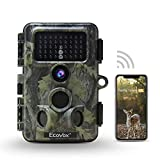 Ecovox 4K WiFi Trail Camera 30MP Bluetooth Hunting Camera with No Glow Infrared Night Vision IP66 Waterproof for Wildlife Game Trail
