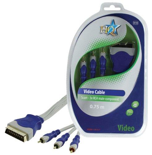 HQ SV-150-0.7 - adaptadores de Cable de vídeo (SCART (21-Pin), 3 x...