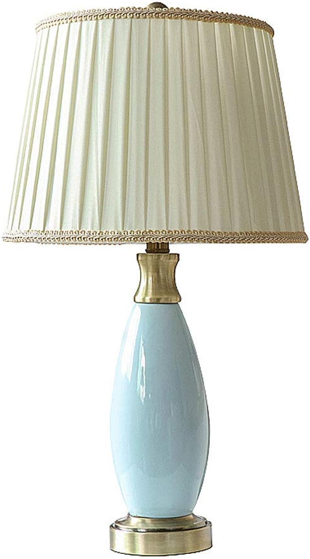 JLZS Europäischen Stil Tischlampe Schlafzimmer Schlafzimmer Schlafzimmer Nachttischlampe Arbeitszimmer Wohnzimmer Luxus High-End-warme romantische elegante Keramik Tischleuchte (Farbe   Netzschalter-Taste) B07H3RFV5Z     | Hat einen langen Ruf  987b05