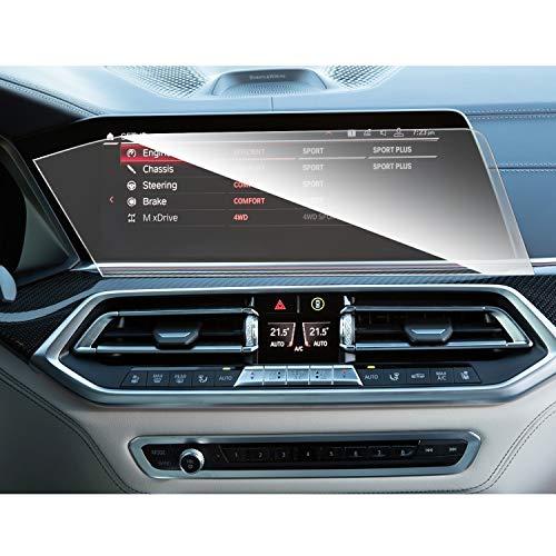 SHAOHAO Auto Navigation Bildschirmschutzfolie für BMW X5 G05 X7 G07 12,3-Zoll GPS Transparent Schutzfolie, Kratzfest 9H Anti-Fingerprint Panzerglas gehärtetem Glas