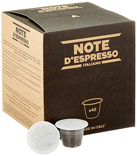 Note d'Espresso - Lot de 40 capsules de thé noir au citron exclusivement compatibles avec machine Nespresso*, 40 x 2 g